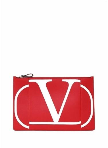Valentino Garavani Clutch / El Çantası Kırmızı